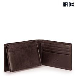Męski portfel ze skóry minimalistyczny, brązowy, 26-1-421-4, Zdjęcie 1
