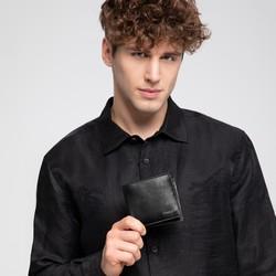 Męski portfel ze skóry bez zapięcia poziomy, czarno - granatowy, 26-1-426-1N, Zdjęcie 1