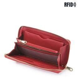 Damski portfel skórzany z łańcuszkiem, czerwony, 26-1-427-3, Zdjęcie 1