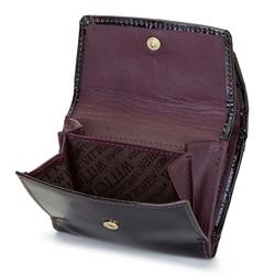 Damski portfel skórzany szylkretowy mały, bordowo - czarny, 26-1-431-2, Zdjęcie 1