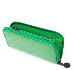 Damski portfel skórzany lakierowany tłoczony, pistacjowy, 34-1-393-MM, Zdjęcie 1