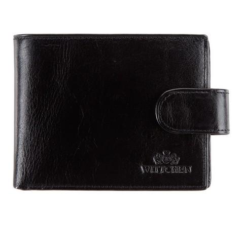 Męski portfel ze skóry klasyczny, czarny, 21-1-127-4, Zdjęcie 1