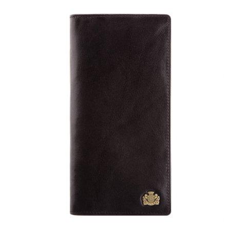 Damski skórzany portfel z herbem pionowy, czarny, 10-1-335-4, Zdjęcie 1