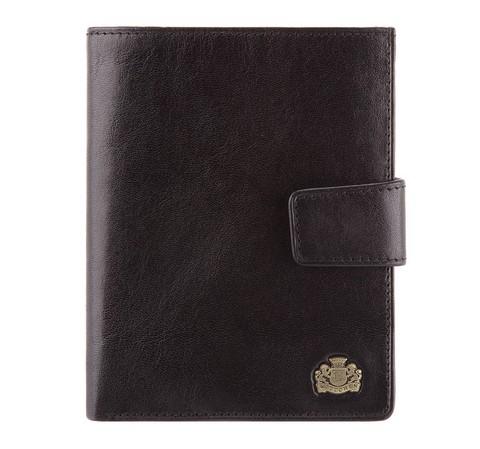 Męski portfel ze skóry z zapięciem, czarny, 10-1-339-1, Zdjęcie 1