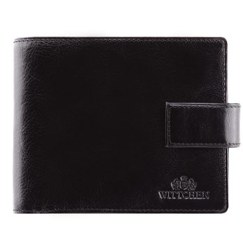 Męski portfel ze skóry duży, czarny, 21-1-216-1, Zdjęcie 1