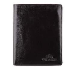 Męski portfel ze skóry prosty, czarny, 21-1-221-1, Zdjęcie 1