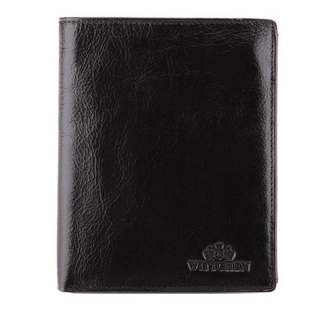 Męski portfel ze skóry prosty, czarny, 21-1-221-5, Zdjęcie 1