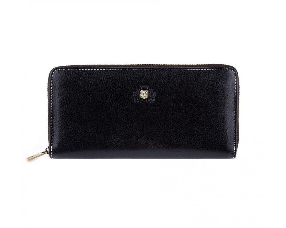 КошелёкБольшой женский кошелёк из коллекции Roma, изготовлен из натуральной телячьей кожи высочайшего качества. Фирменный знак выполнен в виде значка цвета старого золота. Упакован в фирменную коробку с логотипом WITTCHEN. Модель имеет стильный и функциональный дизайн.&#13;<br> &#13;<br> &#13;<br> Особенности модели:&#13;<br> &#13;<br> &#13;<br> отделение для мелочи на молнии;&#13;<br> 3 отделения для купюр;&#13;<br> 8 слотов для кредитных карт;&#13;<br> 2 кармана.<br><br>секс: женщина<br>Цвет: черный<br>материал:: натуральная кожа<br>высота (см):: 10<br>ширина (см):: 20