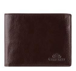 Męski portfel skórzany z rozkładanym panelem, Brązowy, 21-1-262-4, Zdjęcie 1