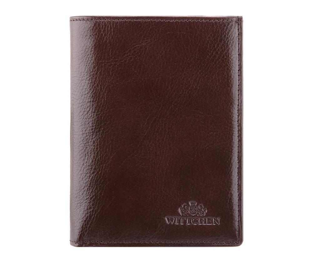 КошелекМужской кошелек среднего размера, сделан из мягкой телячьей кожи. Логотип- герб WITTCHEN тисненый на коже.&#13;<br>&#13;<br>&#13;<br>Кошелек состоит:&#13;<br>&#13;<br>    отделение для монет ,&#13;<br>    2 отделения для купюр,&#13;<br>    8 отделений для кредитных карт,&#13;<br>    5 карманов, три из нихпрозрачные,&#13;<br>    отделение для паспорта и водительского удостоверения,&#13;<br>    размеры: 95 x 125 мм.&#13;<br>&#13;<br>Кошелек имеет подарочную упаковку с логотипом WITTCHEN, дополнительно с товаром прилагается индивидуальный Сертификат Подлинности, который подтверждает оригинальность и высокое качество товара.&#13;<br>Коллекция Italy, подробное описание коллекции Вы можете найти<br><br>секс: мужчина<br>Цвет: коричневый<br>высота (см):: 13<br>ширина (см):: 9,5