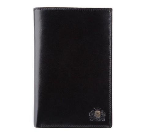 Męski portfel skórzany gładki, czarny, 39-1-030-3, Zdjęcie 1