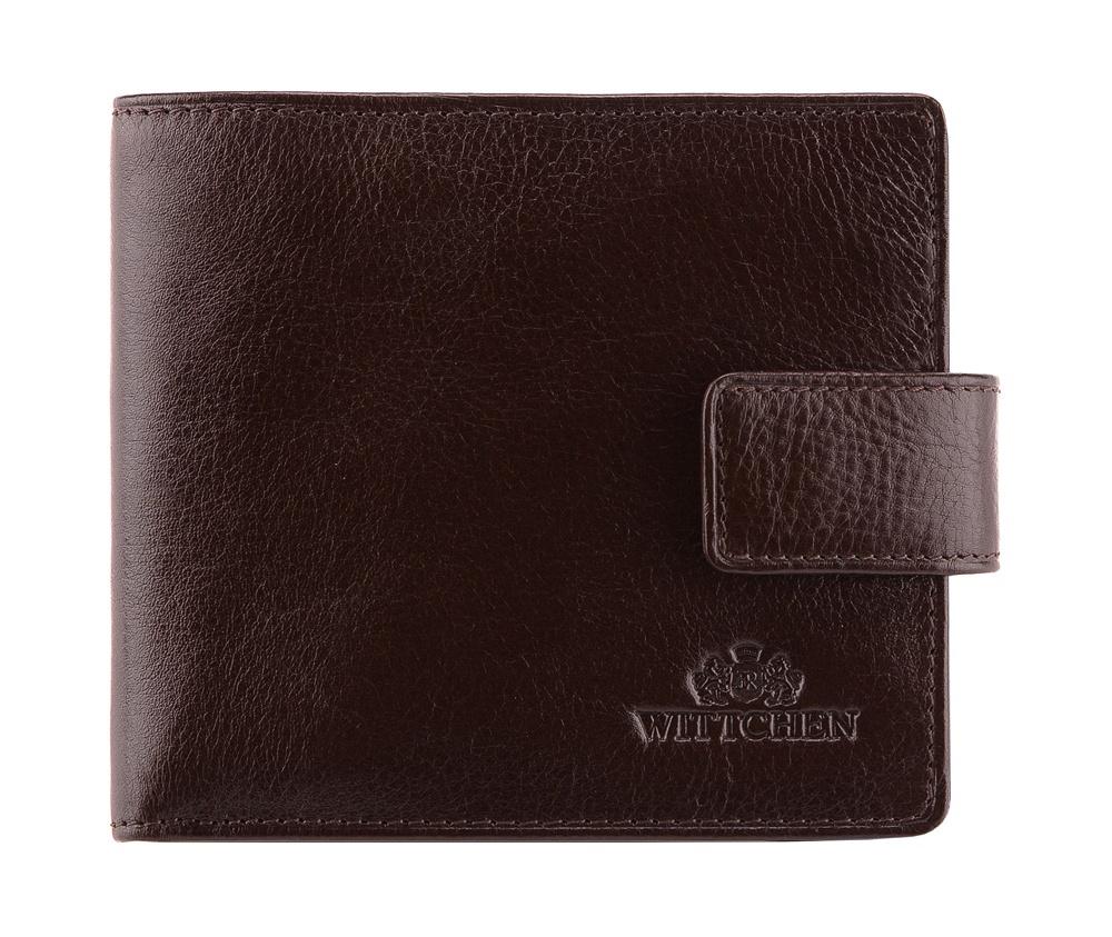 КошелекМужской кошелек среднего размера, сделан из мягкой телячьей кожи. Логотип- герб WITTCHEN тисненый на коже.&#13;<br>Кошелек состоит: &#13;<br>&#13;<br>    отделение для монет,&#13;<br>    2 отделения для купюр, однона молнии,&#13;<br>    2 отделения для кредитных карт,&#13;<br>    2 кармана,&#13;<br>    размеры 115 x 100 мм.&#13;<br>&#13;<br>Кошелек имеет подарочную упаковку с логотипом WITTCHEN, дополнительно с товаром прилагается индивидуальный Сертификат Подлинности, который подтверждает оригинальность и высокое качество товара. Коллекция Italy, подробное описание коллекции Вы можете найти<br><br>секс: мужчина<br>Цвет: коричневый<br>высота (см):: 10<br>ширина (см):: 11,5