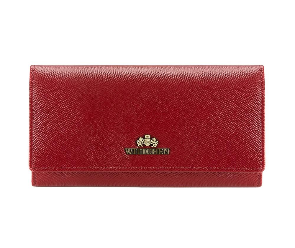 061d7e2b3f853 Damski średni portfel ze skóry naturalnej mieszczący dowód rejestracyjny |  WITTCHEN | 13-1-075