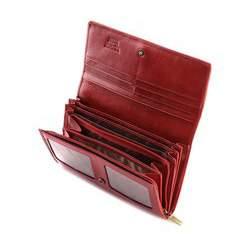 Damski portfel ze skóry lakierowany duży, czerwony, 25-1-052-3, Zdjęcie 1