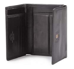 Męski portfel ze skóry poziomy, czarny, 39-1-071-1, Zdjęcie 1