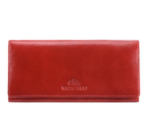 Damski portfel ze skóry duży, czerwony, 21-1-333-10L, Zdjęcie 1