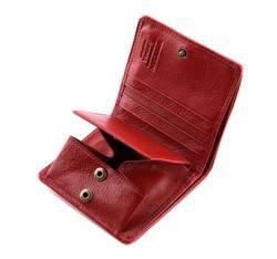 Damski portfel ze skóry lakierowany mały, czerwony, 25-1-065-3, Zdjęcie 1
