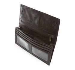 Damski portfel ze skóry klasyczny duży, brązowy, 21-1-335-4, Zdjęcie 1