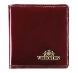 Mały skórzany portfel damski, bordowy, 25-1-065-9, Zdjęcie 1