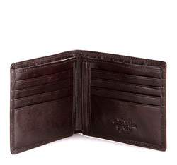 Męski portfel ze skóry z herbem bez zapięcia, brązowy, 39-1-169-3, Zdjęcie 1