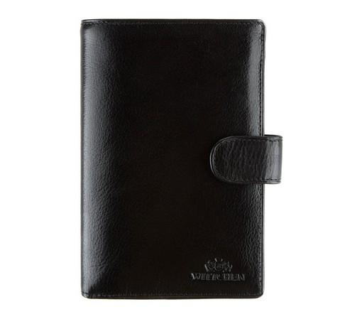 Męski portfel skórzany z dużą ilością przegródek, czarny, 21-1-035-1, Zdjęcie 1