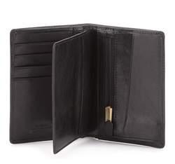 Męski portfel skórzany z podzielonym wnętrzem, czarny, 10-1-020-1, Zdjęcie 1