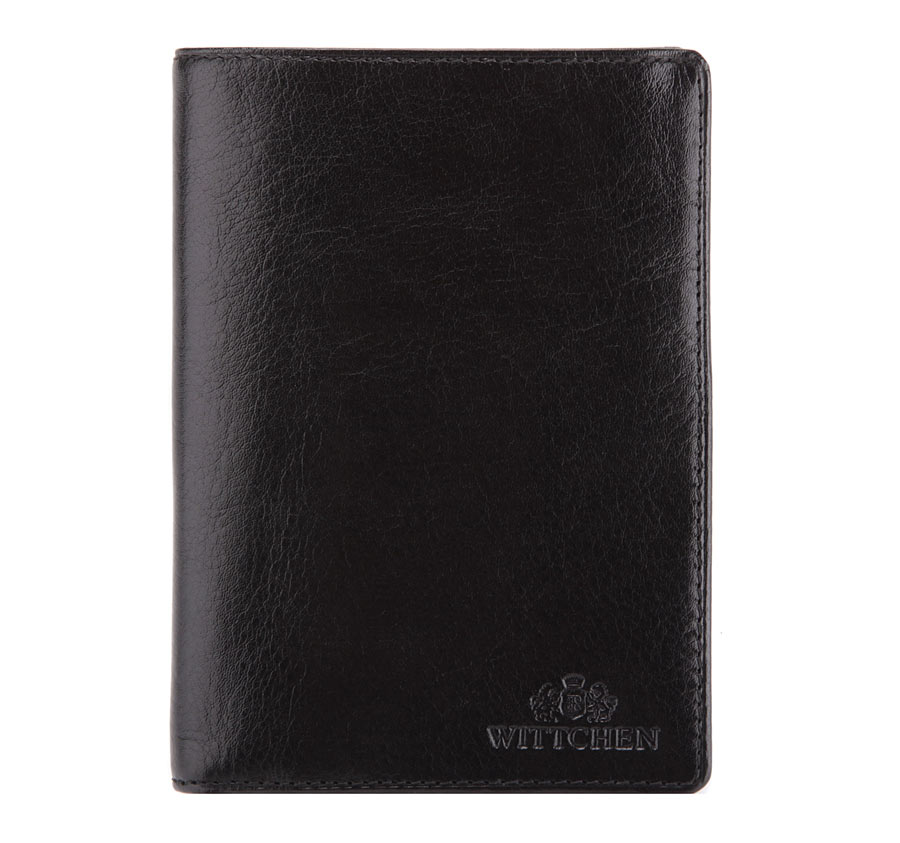 336acf3ab4dce8 Czarny portfel męski ze skóry licowej mieszczący dowód rejestracyjny ...