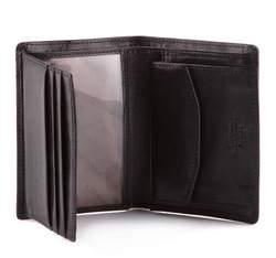 Męski portfel skórzany mały, czarny, 10-1-023-1, Zdjęcie 1
