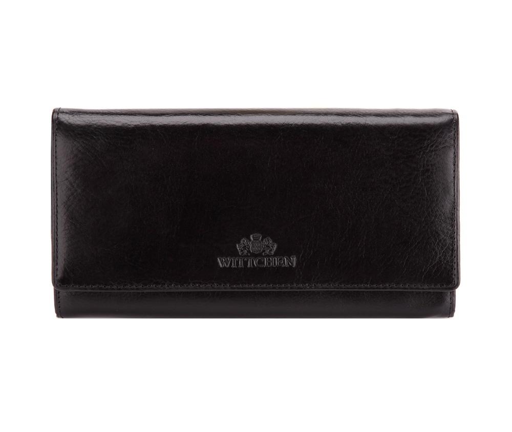 06d4f915765fb Damski duży portfel ze skóry naturalnej mieszczący dowód rejestracyjny |  WITTCHEN | 21-1-052