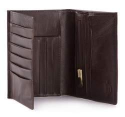Męski portfel skórzany duży, brązowy, 10-1-033-4, Zdjęcie 1