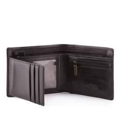 Męski portfel skórzany z dwoma suwakami, czarny, 10-1-040-1, Zdjęcie 1