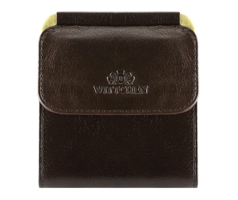 КошелекКошелек средних размеров, сделан из мягкой телячьей кожи. Логотип- герб WITTCHEN тисненый на коже.&#13;<br>&#13;<br>Кошелек состоит:&#13;<br>&#13;<br>    отделение для монет&#13;<br>    2 кармана для банкнот&#13;<br>    Размеры: 90 x 100 мм&#13;<br>&#13;<br>Кошелек имеет подарочную упаковку с логотипом WITTCHEN, дополнительно с товаром прилагается индивидуальный Сертификат Подлинности, который подтверждает оригинальность и высокое качество продукции.&#13;<br>Коллекция Italy, подробное описание коллекции Вы можете найти<br><br>секс: унисекс<br>Цвет: коричневый<br>высота (см):: 10<br>ширина (см):: 9
