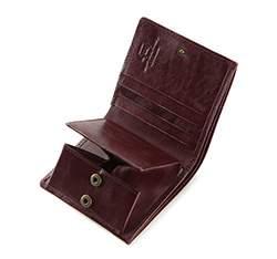 Damski portfel skórzany vintage, bordowy, 21-1-065-9, Zdjęcie 1