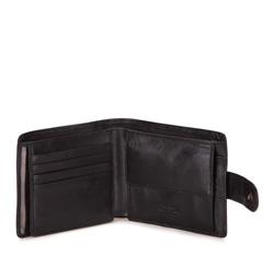 Męski portfel ze skóry prosty, czarny, 10-1-120-1, Zdjęcie 1