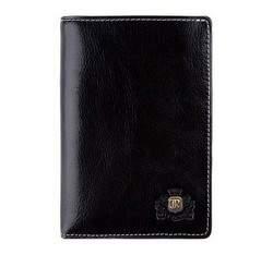 Męski portfel skórzany stębnowany pionowy, czarny, 22-1-020-1, Zdjęcie 1