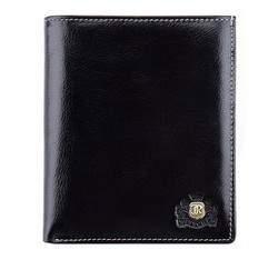 Męski portfel skórzany ze stębnowaniem, czarny, 22-1-139-1, Zdjęcie 1