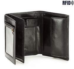 Męski portfel skórzany praktyczny, czarny, 21-1-265-L1, Zdjęcie 1