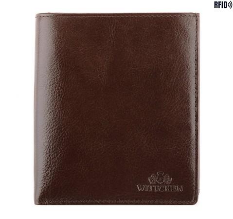 Męski portfel skórzany duży, Brązowy, 21-1-139-10L, Zdjęcie 1