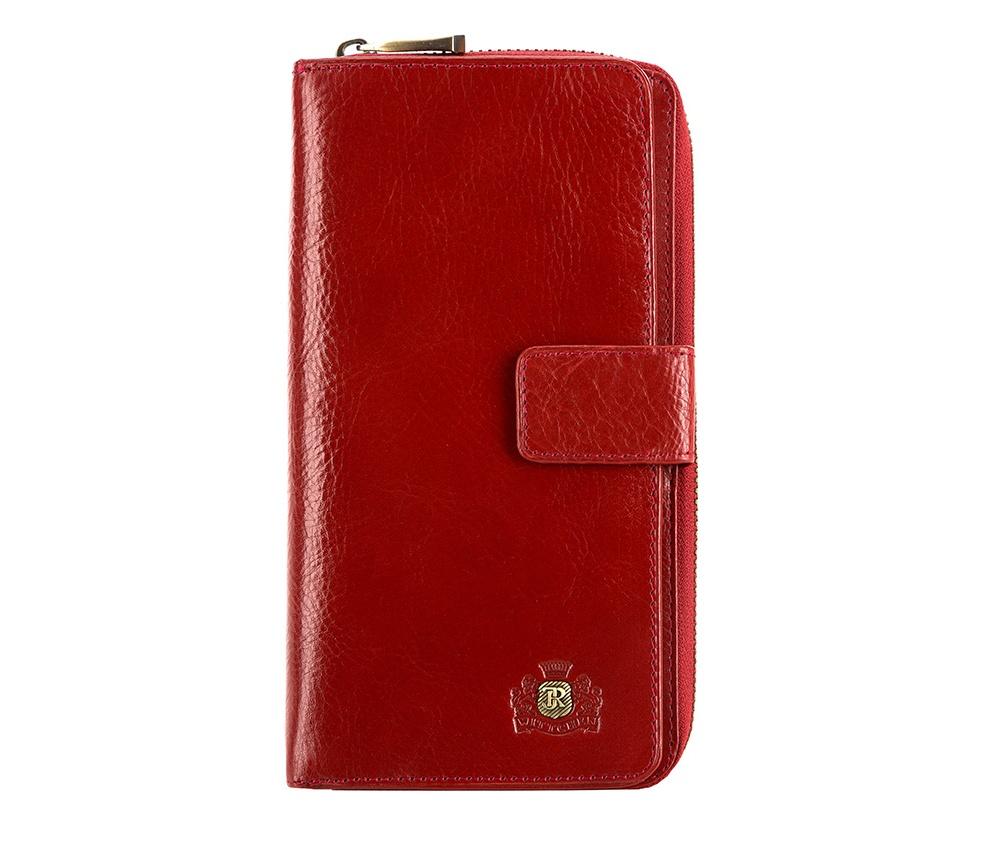 КошелекЖенский кошелёк большого размера из коллекции Roma,  изготовлен из натуральной телячьей кожи высочайшего качества. Фирменный  знак выполнен в виде значка цвета старого золота. Упакован в фирменную  коробку с логотипом WITTCHEN.&#13;<br>Особенности модели:&#13;<br>&#13;<br>    отделение с застежкой-молнией, в котором: 2 кармана для купюр и карман для мелочи на молнии;&#13;<br>    отделение на металлической застежке, в котором: 8 слотов для кредитных карт, 5 отделений, одно из которых прозрачное;&#13;<br>    отделение для автодокументов.<br><br>секс: женщина<br>материал:: натуральная кожа<br>высота (см):: 19<br>ширина (см):: 10.5