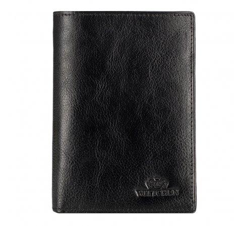 Męski portfel ze skóry klasyczny, czarny, 21-1-119-1M, Zdjęcie 1