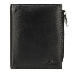Unisex leather wallet, black, 21-1-445-1, Photo 1