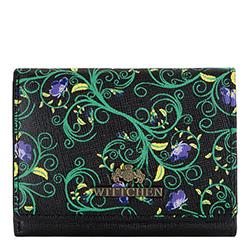 Portmonetka, czarno - zielony, 14-1S-913-1X, Zdjęcie 1
