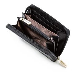 Damski portfel skórzany z mandalą mały, czarny, 04-1-341-1, Zdjęcie 1