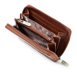Damski portfel skórzany z mandalą mały, jasny brąz, 04-1-341-5, Zdjęcie 1