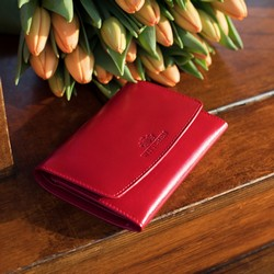 Portfel, czerwony, 14-1-062-L91, Zdjęcie 1