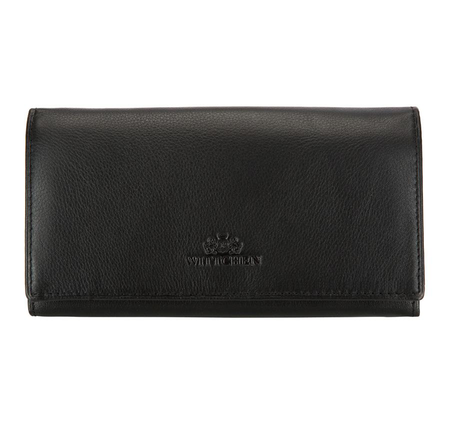Čierna dámska peňaženka.