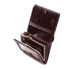 Damski portfel skórzany z herbem klasyczny, brązowy, 39-1-070-3, Zdjęcie 1