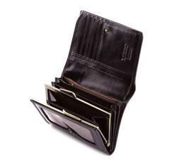 Damski portfel ze skóry lakierowany średni, czarny, 25-1-070-1, Zdjęcie 1