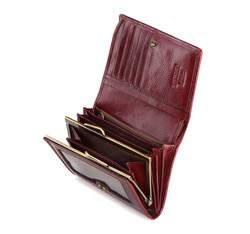 Damski portfel ze skóry lakierowany średni, bordowy, 25-1-070-9, Zdjęcie 1
