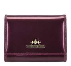 Damski portfel ze skóry lakierowany średni, fioletowy, 25-1-070-F, Zdjęcie 1